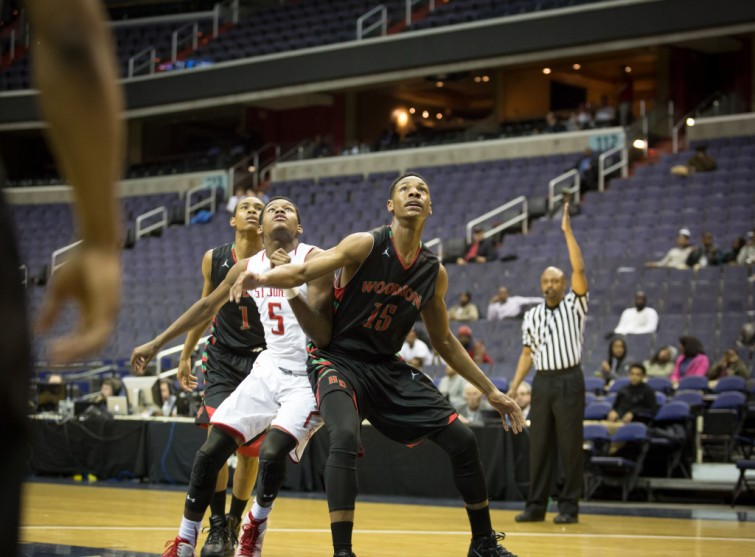 Washington, DC - March 9, 2015 - The Cadets move on to the DCSAA Basketball city title game after beating HD Woodson by a score of 71 - 45. Photo credit Cory Royster / Cory F. Royster Photography