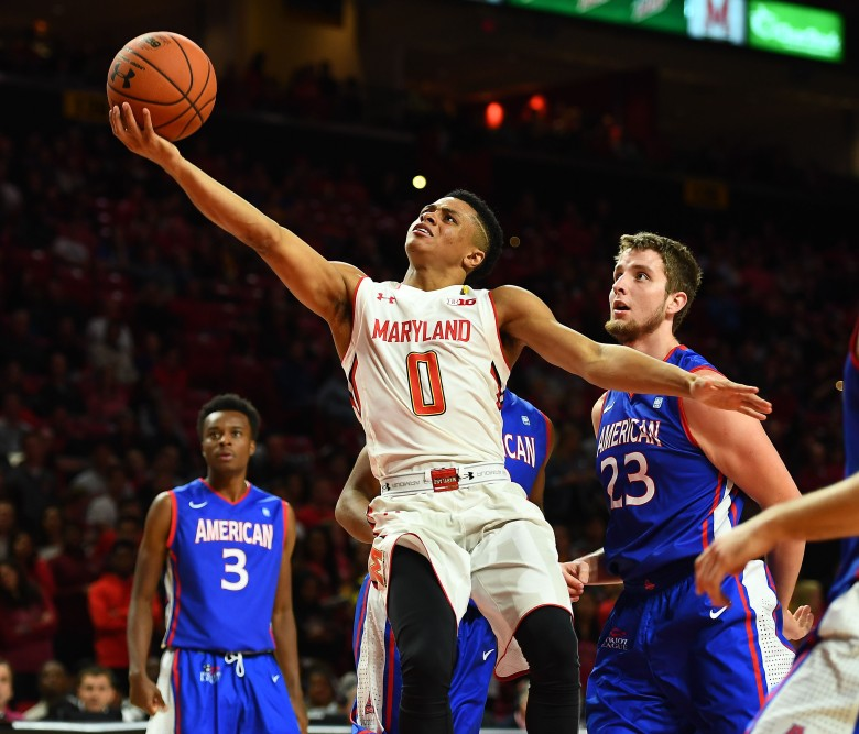 NCAA Basketball: American U. at Maryland