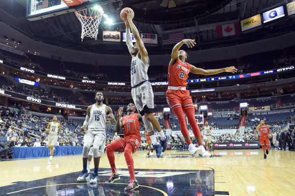 Georgetown's graduate transfer Rodney Pryor scored 13 points and eight rebounds in the win over St. John's. Photo Courtesy: GU Hoyas